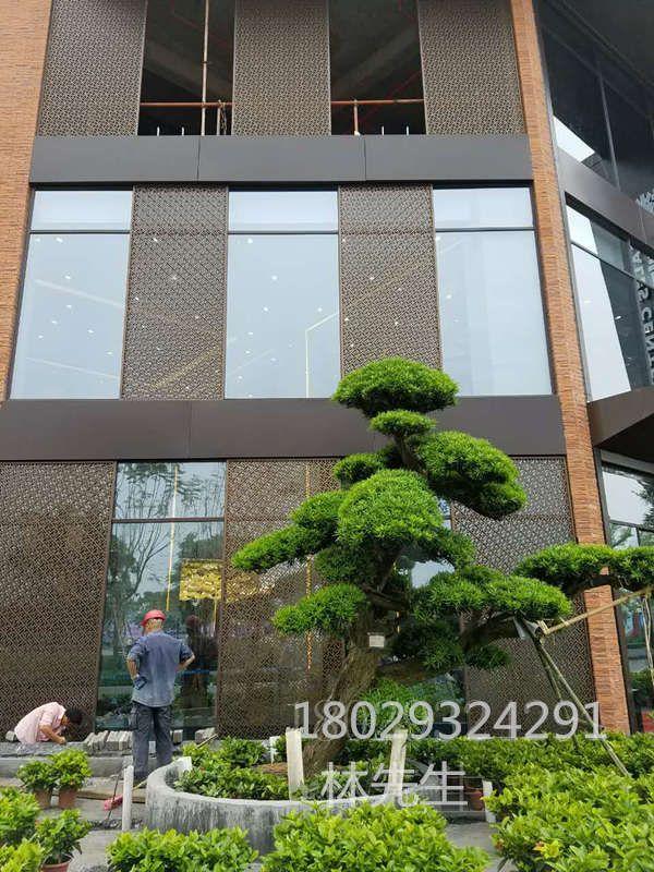 铝艺外墙 铝雕花外墙屏风定制