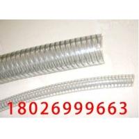 食用PU钢丝软管(食用级透明高压高温塑料软管)