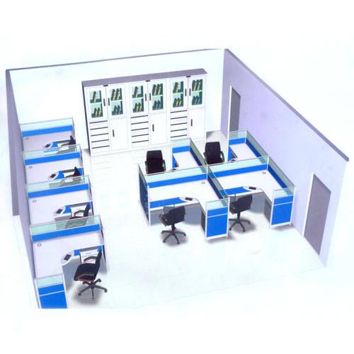 小办公室隔断效果图_