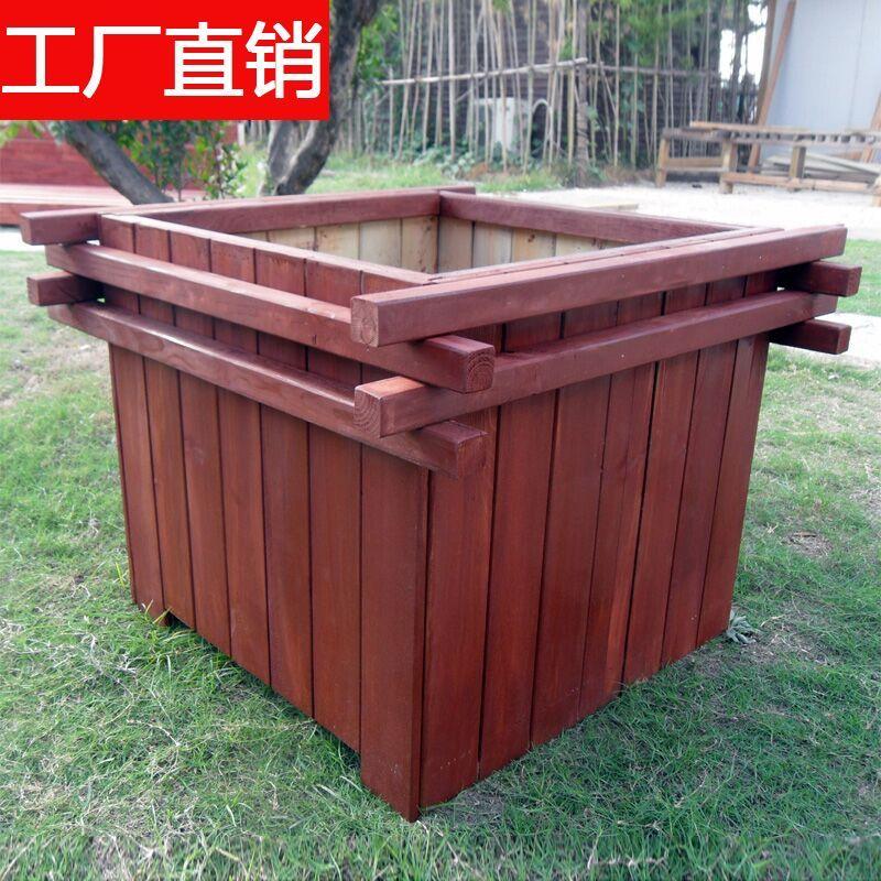 天津防腐木花箱防腐木花盆木花池木花槽