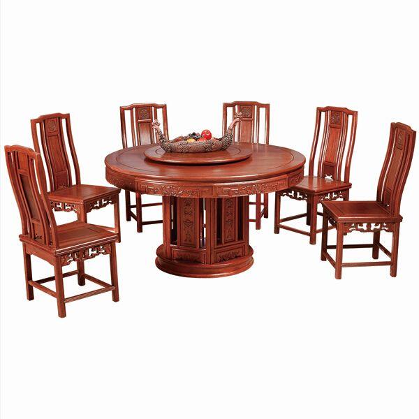 尊派实bob直播平台 帝王赋系列 中式餐桌餐椅组合