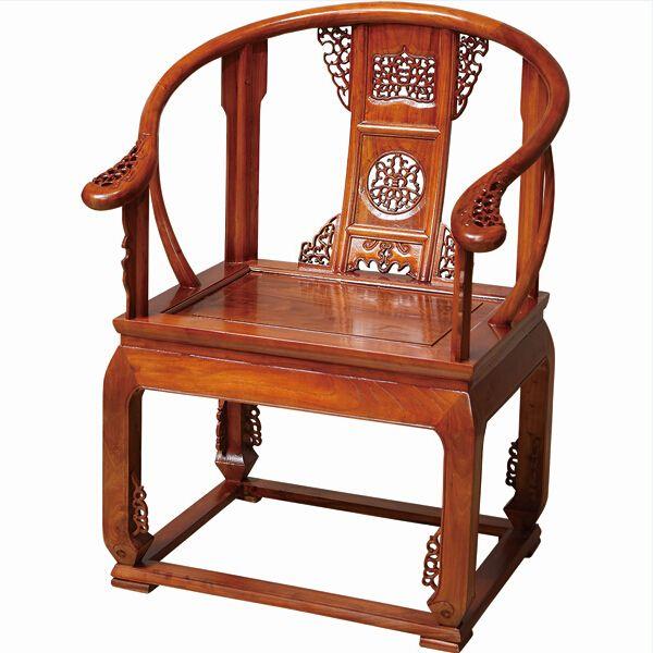 尊派实威廉希尔 帝王赋系列 仿古实木 圈椅