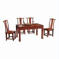 尊派实木家具 帝王赋系列  茶几 靠背椅组合