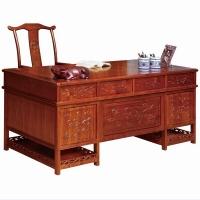 尊派实木家具 帝王赋系列  书桌