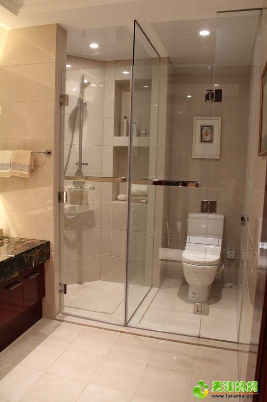 卫生间玻璃门干湿分区淋浴房