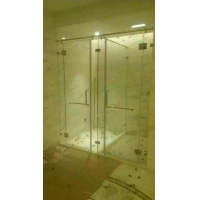页码平开门卫生间玻璃隔断门干湿分区淋浴屏