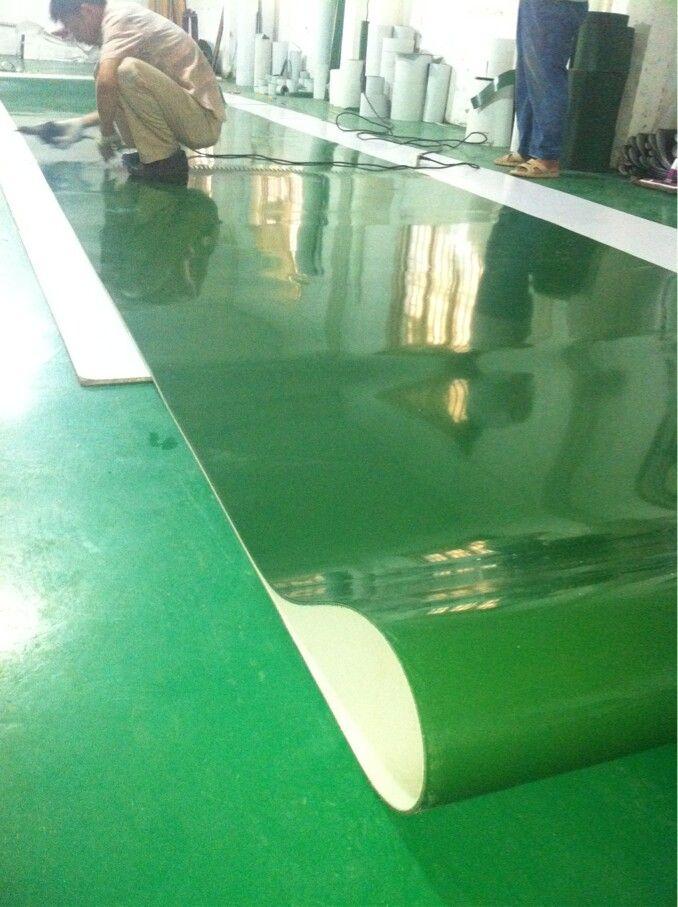 绿色pvc输送带料