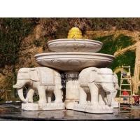 供应大象雕刻 汉白玉石雕工艺品 石大象制作