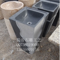 供应天然石材洗手盆 户外洗手盆