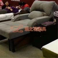 LZH18电动布艺足浴沙发足疗躺椅