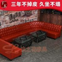 鹤山酒吧KTV现代皮制沙发厂家订做