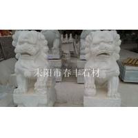 湖南汉白玉石雕石狮子