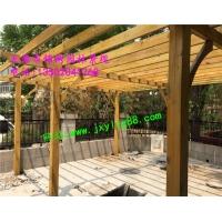 防腐木 碳化木制品花架 凉亭 地板 秋千 木屋