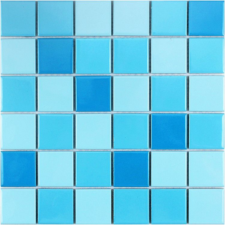 广西南宁五星酒店室内游泳池专用马赛克 泳池砖厂家地中海天蓝