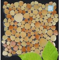 陶瓷鹅卵石公园路石 自由石 小脚丫马赛克 米色709