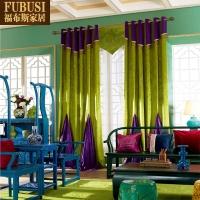 韩国进口冰花绒窗帘绒布纯色卧室现代简约客厅定制成品窗帘