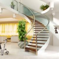 不锈钢楼梯扶手,实木楼梯,工程护栏