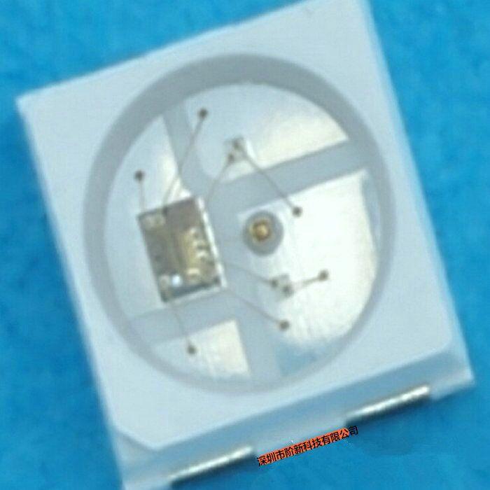 工厂直销三安芯片明微IC纯金线的内置幻彩点控RGB灯珠SK6