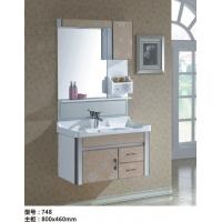 乐浴卫浴玻璃挂墙式浴室柜 带灯带四件套龙头
