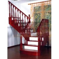 别墅楼梯实木红橡楼梯松江楼梯扶手实木楼梯禾步楼梯
