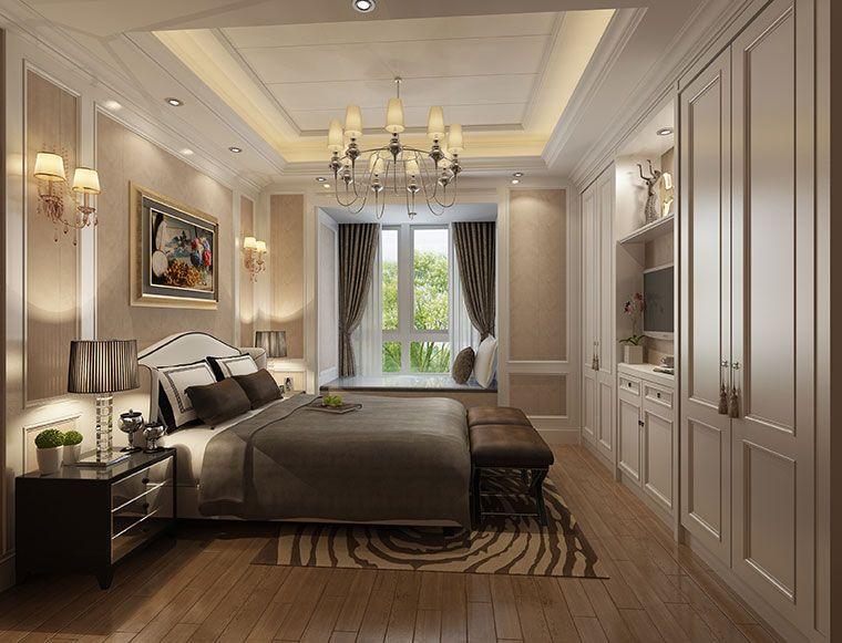恒信福美式风格卧室竹木纤维集成墙面