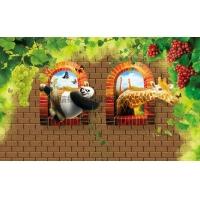 动物世界风格——锌钢背景墙高清系列 恒信福 集成墙面 装饰板