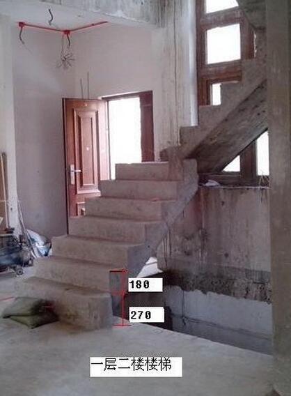 设计水泥基础舒适楼梯高度 水泥楼梯步高龙骨调节 楼梯