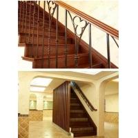 别墅组装式实木铁艺围栏 橡木楼梯靠墙扶手 木定制经典案例配置