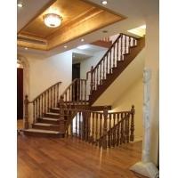 家庭定制手工原木榉木立柱 搭配同款同色楼梯大立柱 上海楼梯