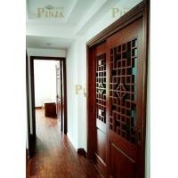 橡木六孔原木家庭实木门 中式楼梯木门款式厂家定制 中式原木门