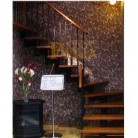 上海复式楼梯选择钢木楼梯 钢制简约楼梯款式 钢木直角家用复式
