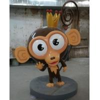 猴子雕塑,动物雕塑烤漆,北京卡通雕塑
