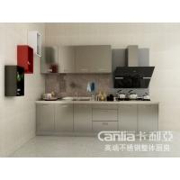 卡利亚不锈钢整体橱柜,不锈钢彩色门板,不锈钢台面