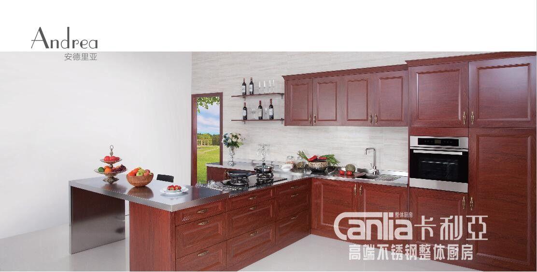 卡利亚高端不锈钢厨柜  整体厨房 安德里亚