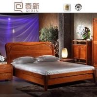 奇新 纯实木家具 实木家具卧室家具 中式实木床 A801