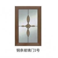 铜条玻璃门1号