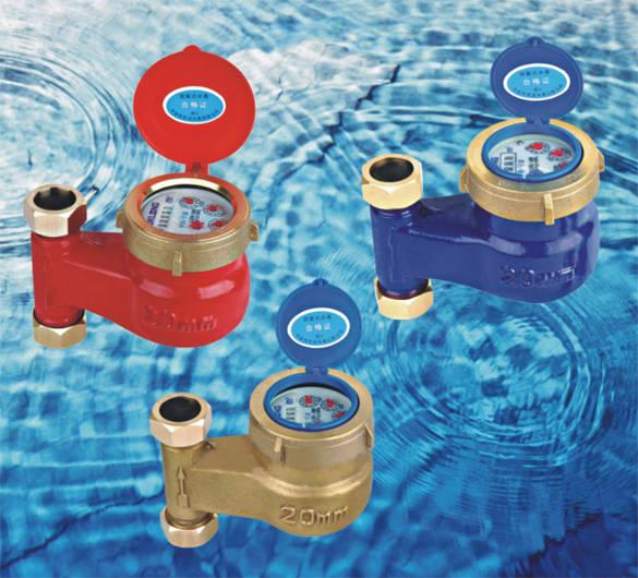 水平螺翼式湿式冷(热)水表图片