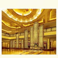 钛金镂空屏风 高档玫瑰金客厅装饰不锈钢屏风