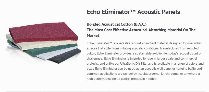 Echo Eliminator B.A.C 隔音材料