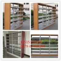商丘钢制木护板单面双面图书馆书架厂家