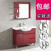 箭牌卫浴实木洗漱柜一体陶瓷盆橡木美式浴室柜组合APGM8L3