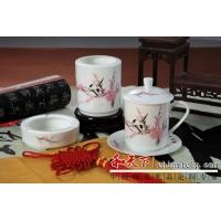 陶瓷三件套 青花瓷陶瓷三件套 商务礼品陶瓷三件套