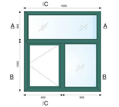 60铝塑复合外平开窗