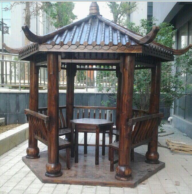 重庆防腐木凉亭 花台 葡萄架