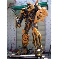 北京变形金刚雕塑大黄蜂钢雕擎天柱雕塑制作