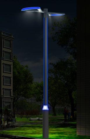 蝴蝶结双灯叶设计LED庭院灯,12w庭院灯厂家