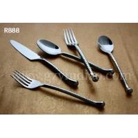 不锈钢牛排刀叉勺套装 西餐餐具3件套 高档圆头餐刀