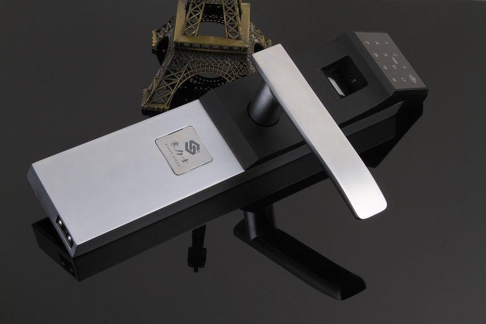 十大品牌指纹锁 安全防盗智能锁 室内门锁 天地杆锁