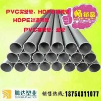 地埋灰色实壁管  PVC塑料穿线管