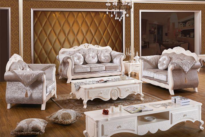 普尼狄 简欧沙发 欧式布艺沙发组合现代 新古典客厅家具
